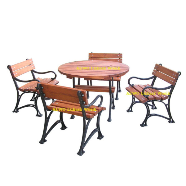 stół okrągły 4 krzesła 800x800